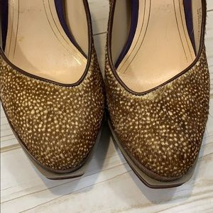 Cole Haan Shoes - Cole Haan Spotted Fur Heels - 6.5 fits like 6